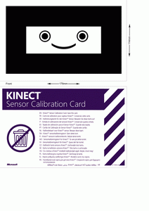 Kinect calibration card